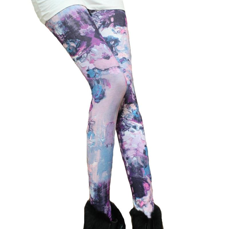 Plus size 2017 High Quality   legging   Women Universe Printing Leggins Pants Elasticity Space   Legging   K090