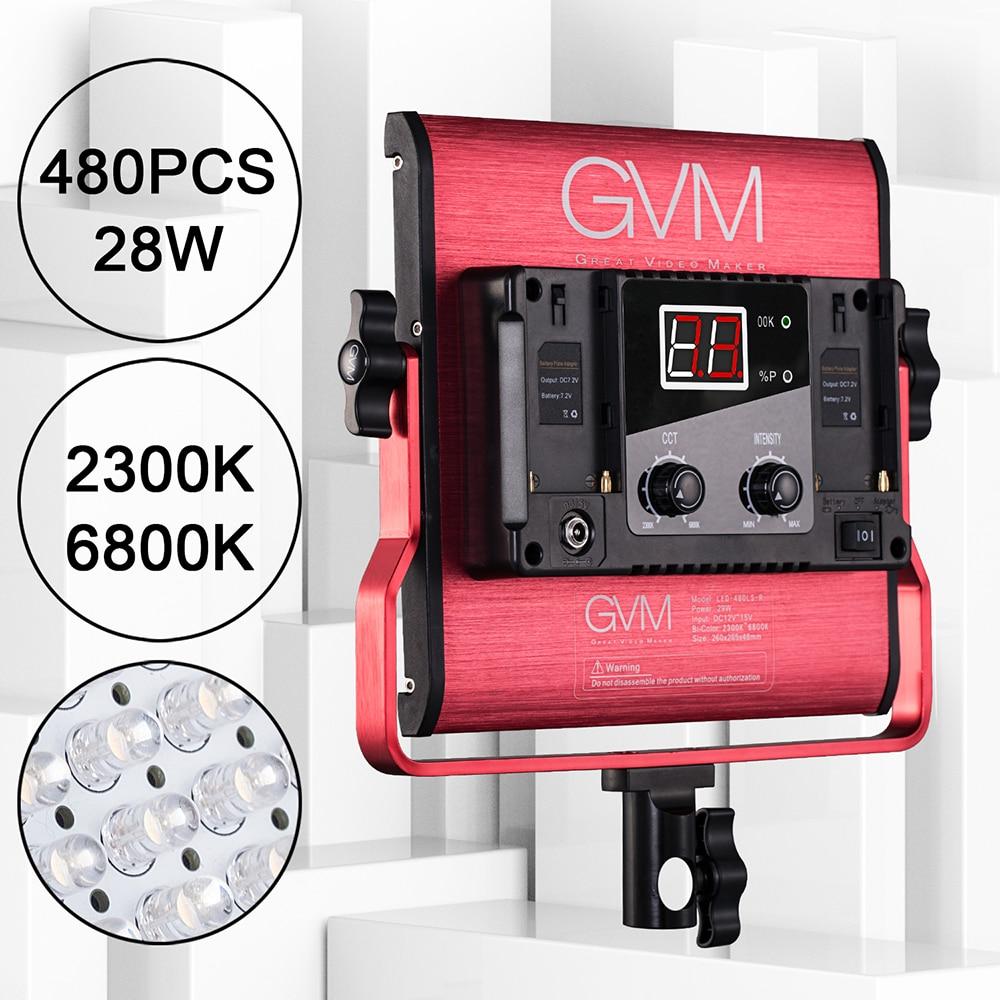 Gvm Photo Studio Led Ring Light: GVM 480LS 29W LED Video Panel Light 480 CRI97+ LED Beads