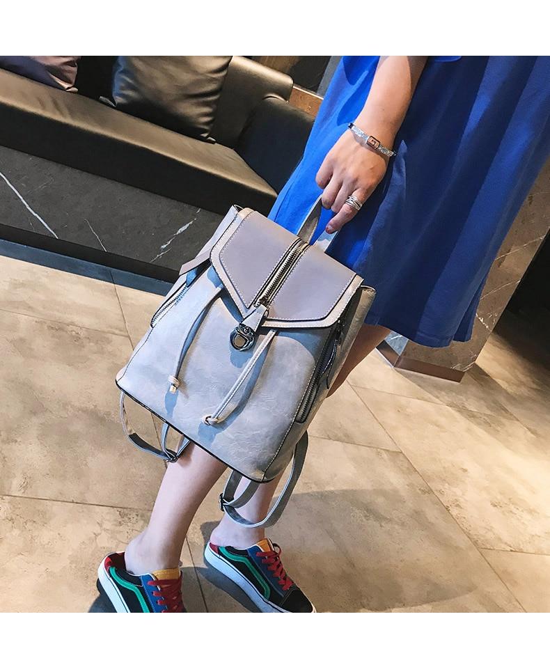 HTB19.PVbSSD3KVjSZFKq6z10VXaN Vintage Matte Leather Women Backpacks High Quality Multifunctional Shoulder Bag Female Girls Backpack Retro Schoolbag XA533H