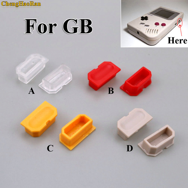 ChengHaoRan 50pcs Multicolor Dust Cover For Game Boy GB game Console Shell Dust Plug Plastic Button For DMG 001