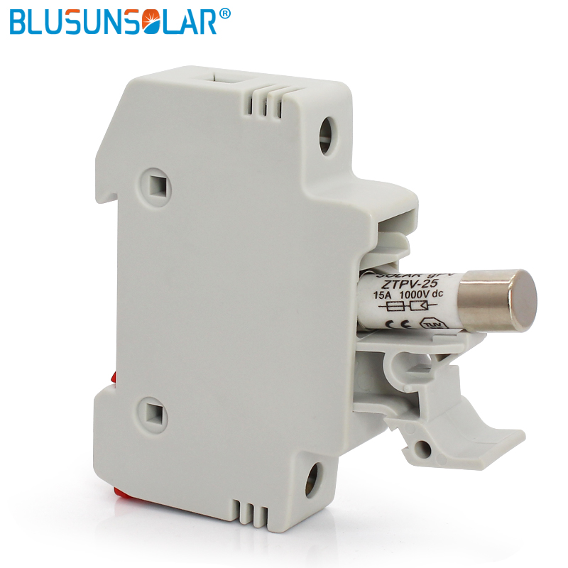 1sets lot High Voltage Solar PV <font><b>Fuse</b></font> <font><b>Holder</b></font> 1000V with PV <font><b>Fuses</b></font> 1000V 10A 12A 15A 20A <font><b>30A</b></font> for solar system protection image