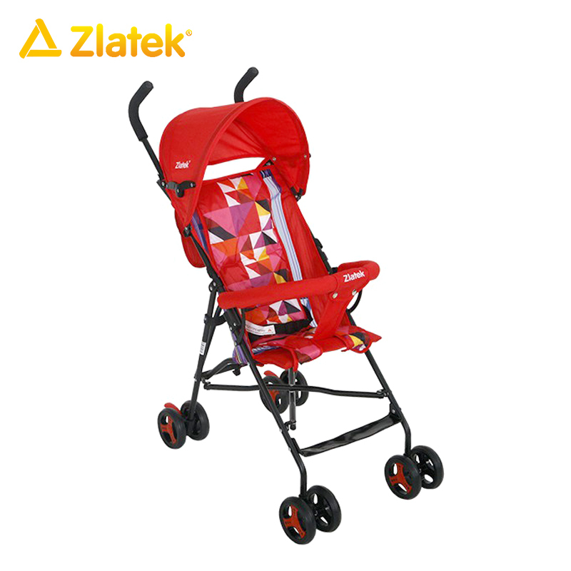 Купить со скидкой Детская прогулочная открытая коляска Zlatek Micra для детей от 7 месяцев до 3 лет, весом до 15 кг.