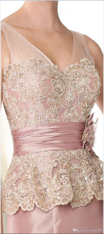 Elegante rosa claro vestido de madrina lf2739 madre vestido de la ...