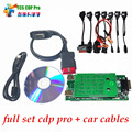 Quality A+ 2015.R1 or 2014.R2 new vci cdp no bluetooth SCANNER TCS cdp pro plus with LED 3 IN1 CDP+ Full 8 Car Cable