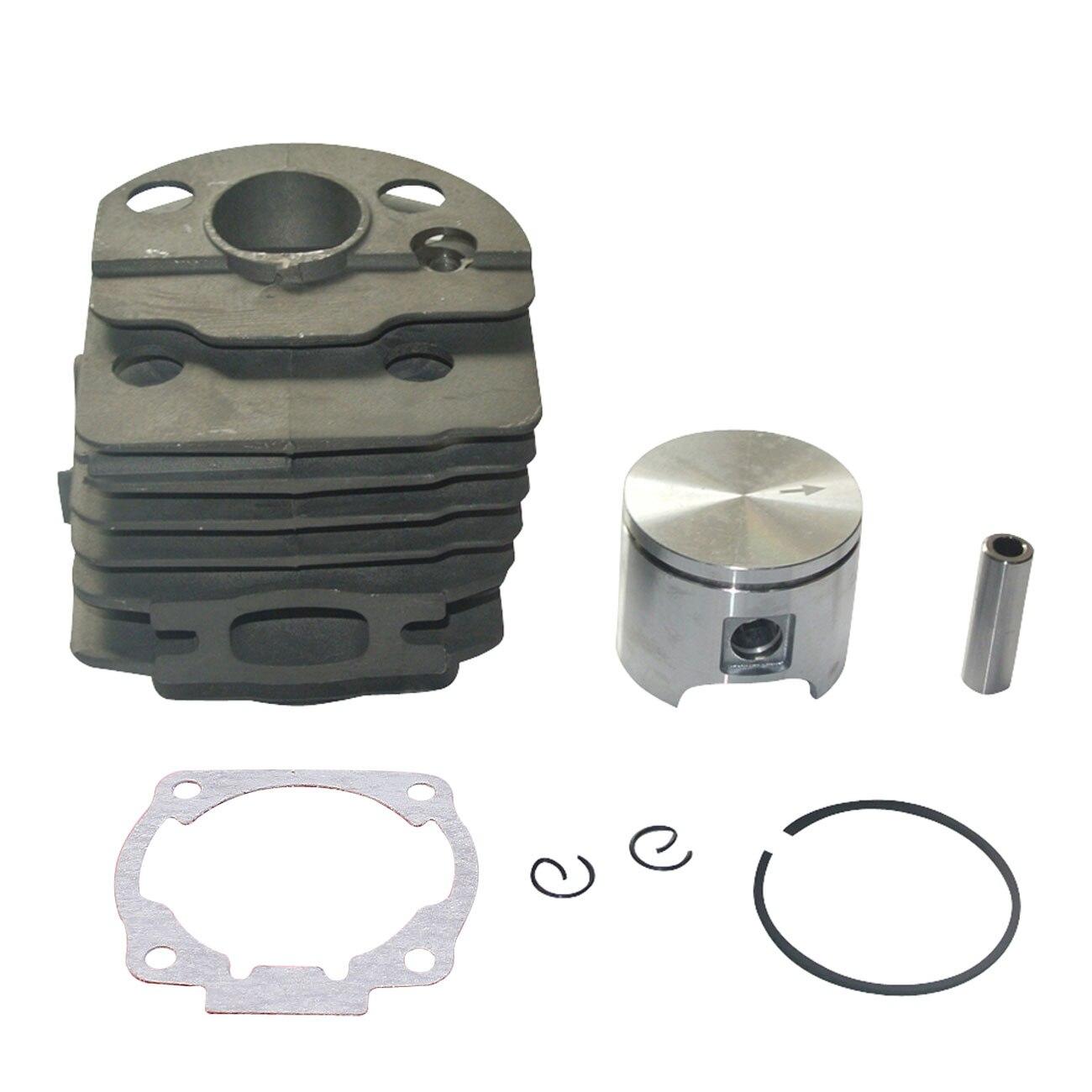 Engine Motor Cylinder Kit Piston Kit W/ Rings 46MM For Husqvarna 51 55 Chiansaw