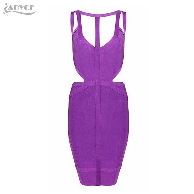 Фиолетовый трикотажные спагетти ремень выдалбливают hl платья повязки 2016 новых прибытие sexy женщины выпускного вечера партии элегантный bodycon благородные платья