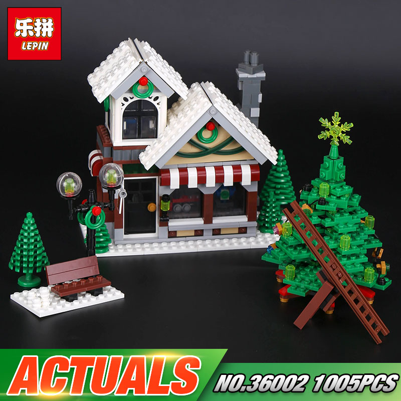 Lepin 36002 Genuine 1005Pcs Creative Series The Winter Toy Shop Set 10249 Building Blocks Bricks Educational Toys Christmas Gift lepin 36002 1005pcs street view series winter toy store christmas model building blocks set bricks toys for children gift 10249