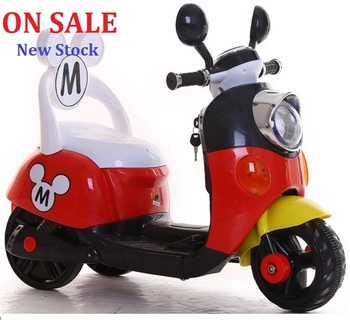 ON SALE 75 days Free shipping Three colors Mickey Child ride on electric toy motorcycle bike For 1-5 years old age baby