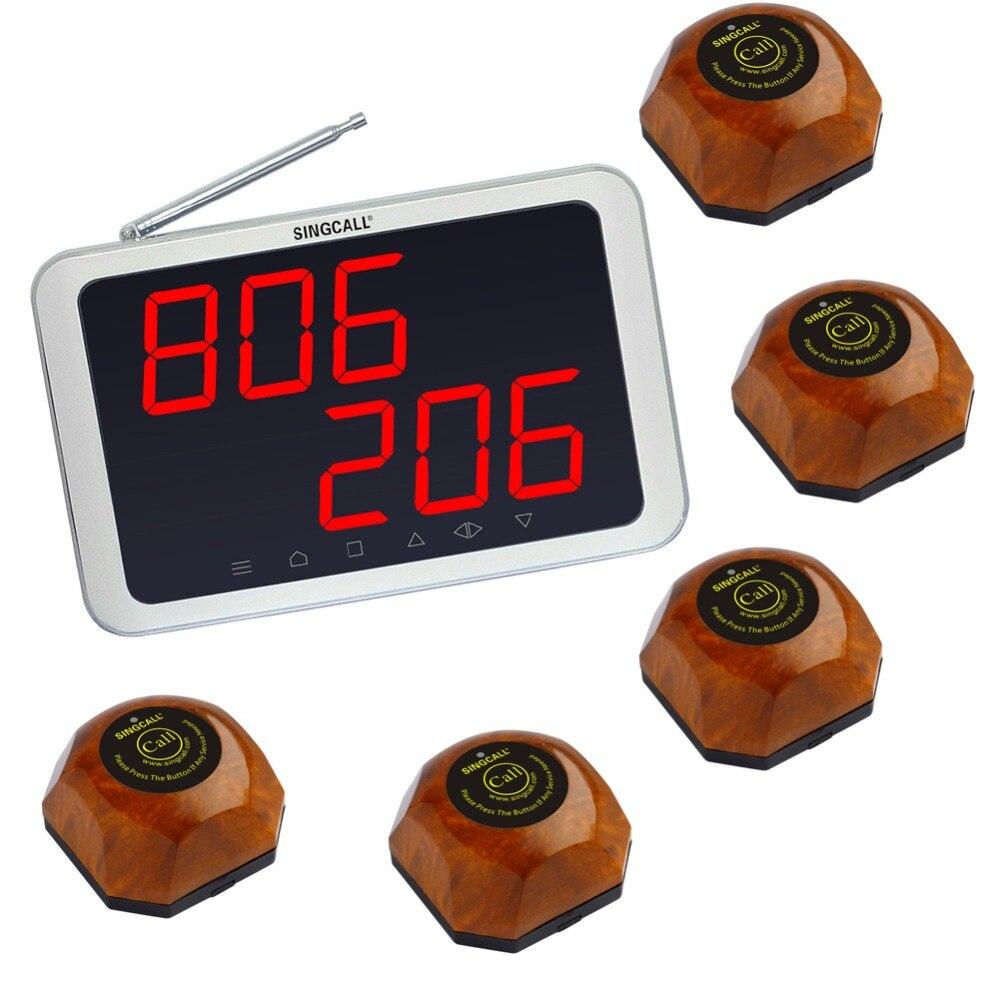 最も安い無線ページングシステム、5ピースのテーブルベルと1ピース受信機のape1200、無線呼び出しボタン