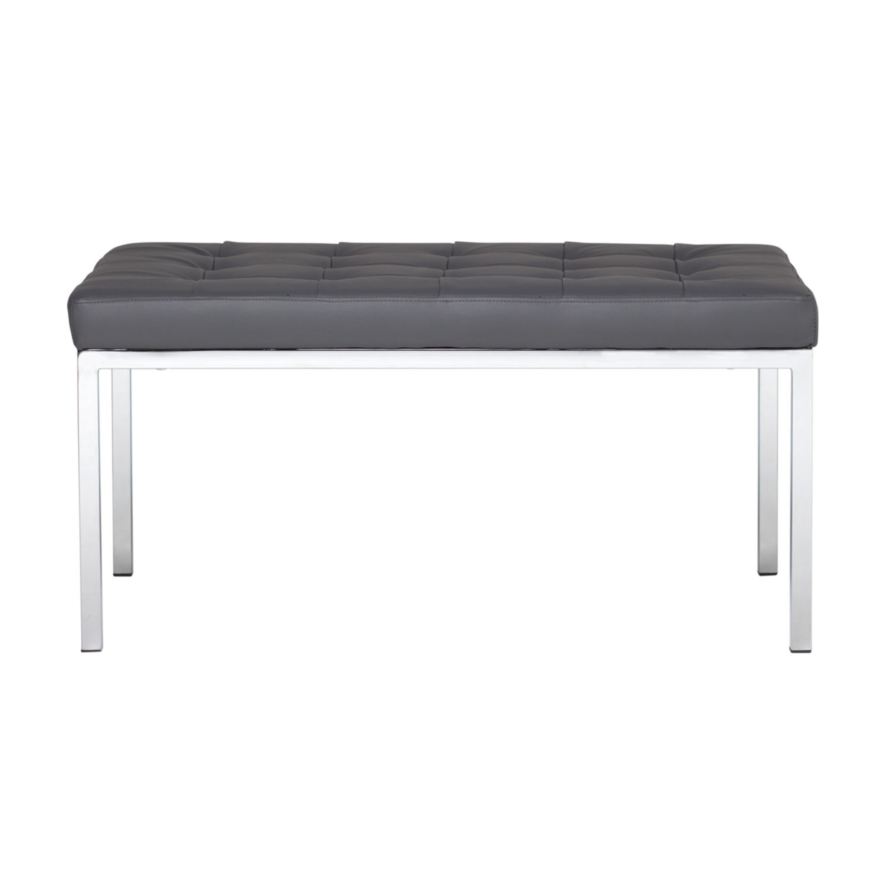 Offex Home Office Lintel 35 Bench Bonded Leather - Smoke offex home office plinth ottoman latte