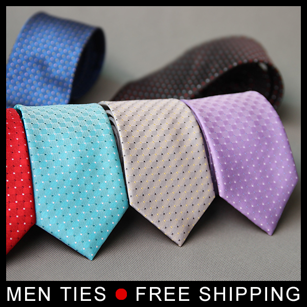 Dot Style Men Formal ties Mens Dress suits neckties 7cm wide Narrow Fashion business Gifts 12 colors 1 pc