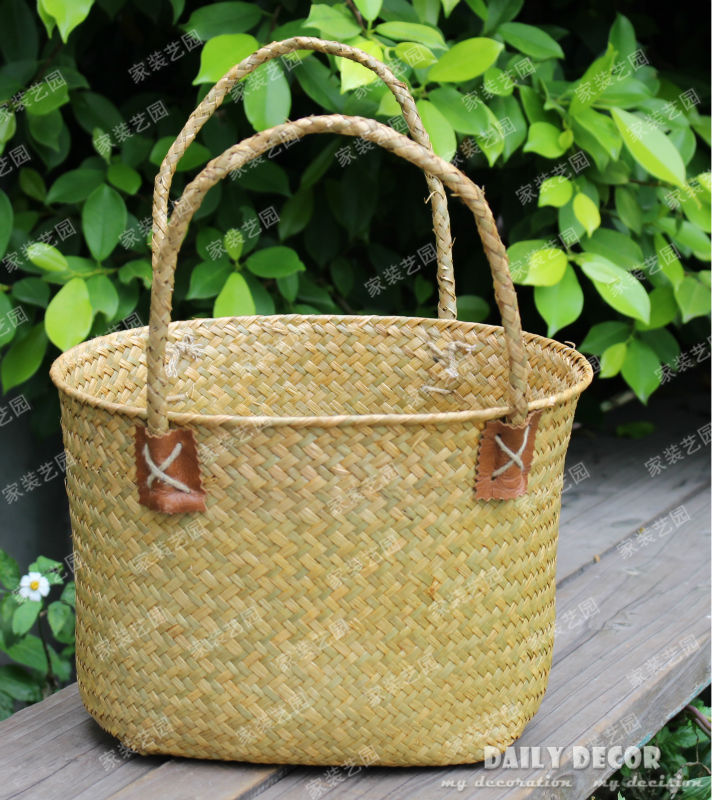 Handmade Straw Basket : Small straw baskets promotion for promotional