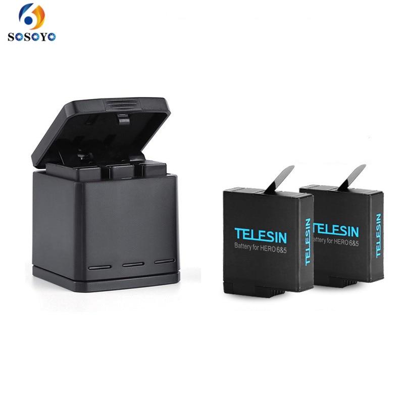 1pcs 3-way Battery Charger Charging Storage box + 2pcs 1220MAH AHDBT-501 Batteries For GoPro Hero 5 7 Black Hero 6 Camera (14)