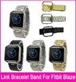 High Quality 4 Colors 23mm Stainless Steel Band For Fitbit Blaze Smart Fitness Watch With Free Metal Frame