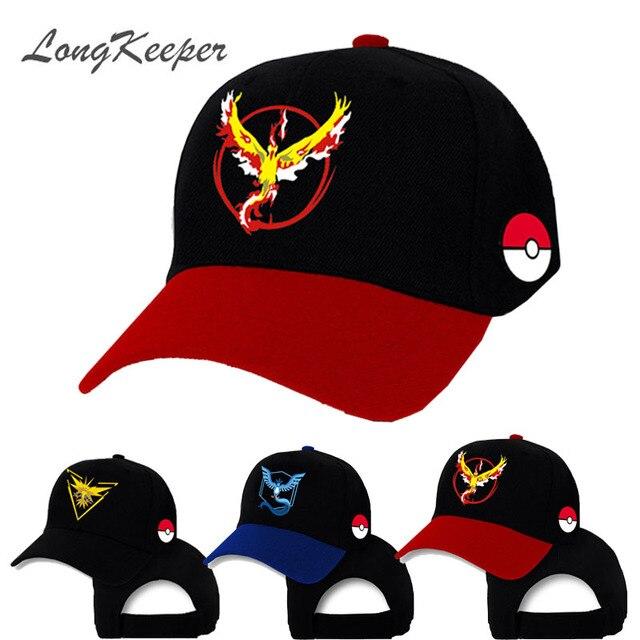 Longkeeper Pokemon va sombrero del casquillo equipo valor equipo Mystic  equipo Instinct Pokemon Cap Pokemon Go 5af6fde0a40