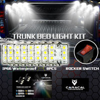 X LIGHT 8PC Pickup Truck Bed Work Box Waterproff White 48 LED Lighting Accessories Kit