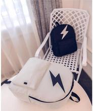 Fashion Fresh Style Lightning Unisex Travel Bag Student Backpack School Bag For Young People ajalt japanese for young people ii student book