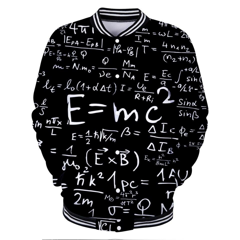 Zogaa 3d Digital Printed Clothes Men's And Women's Baseball Clapper Coats E Mc2 Men Jacket Albert Einstein Great Scientist