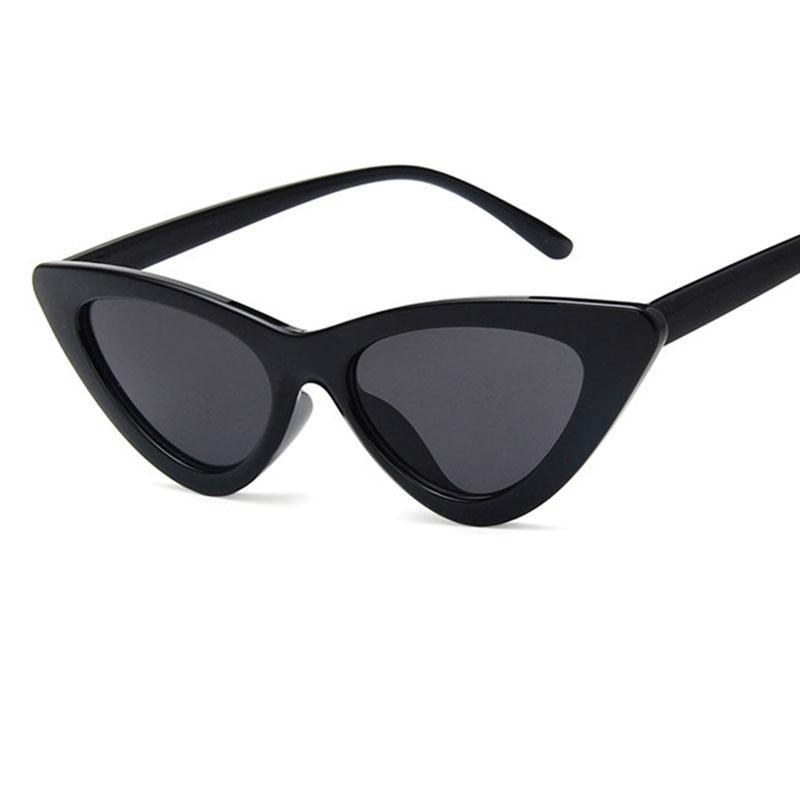 cat eye shade for women fashion sunglasses brand woman vintage retro triangular cateye glasses oculos feminino sunglasses Sexy 4