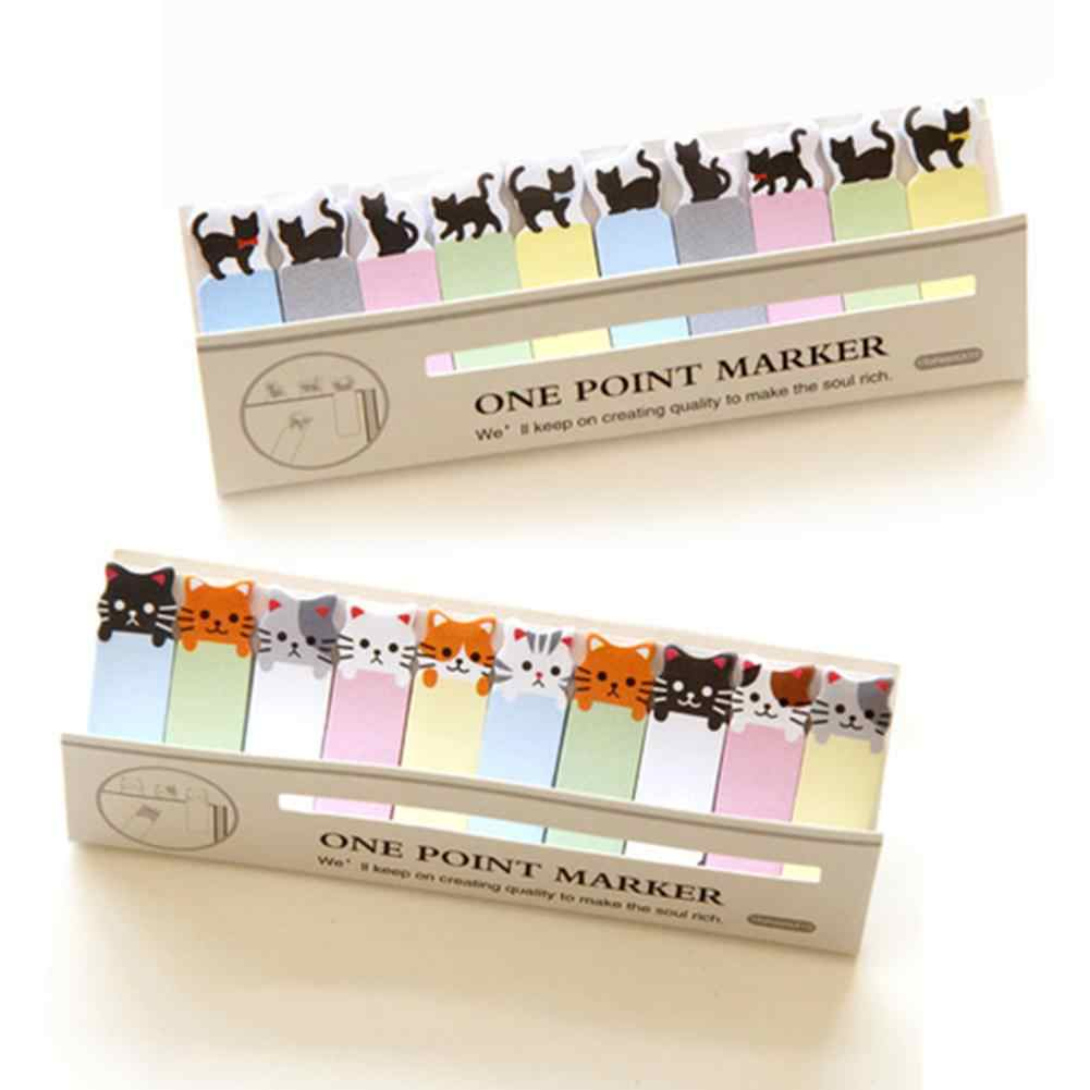 Office Writing Cute Funny Joy Cat Style Sticker Bookmark Memo Marker Point Flags Sticky Notes Label Decoration