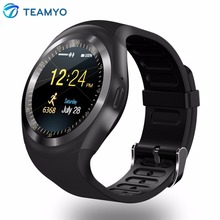 Teamyo Smart Watch Phone Bluetooth Dail Call SMS Reminder Steps Counter Relogio Smartwatch for Apple Android support SIM TF card