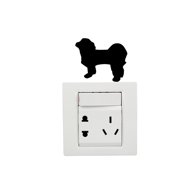 Shih Tzu Dog Fashion Cartoon Creative Funny Vinyl Switch Sticker 2SS0127