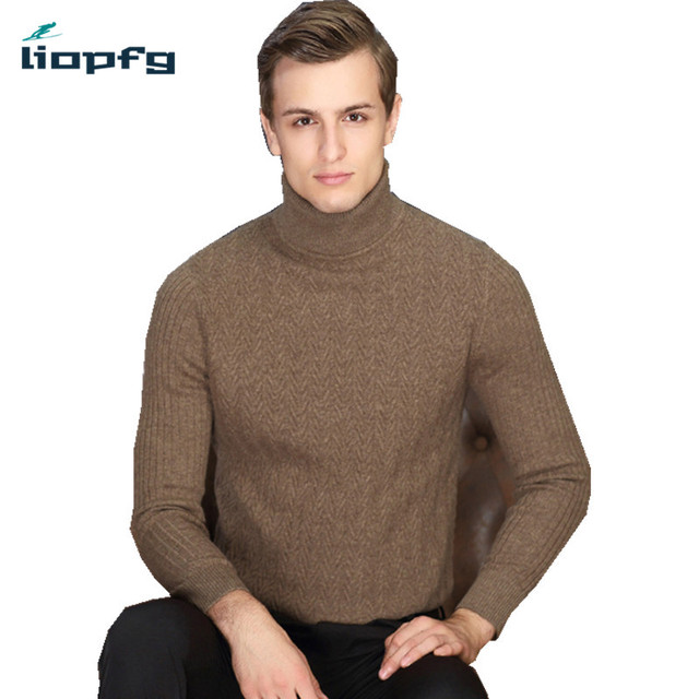2017 New 100 Cashmere Sweater Winter Men Sweater Male Thick Warm
