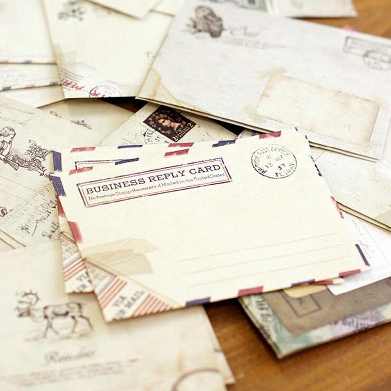 24 шт./малый лот каваи мини-крафт-бумага конверте