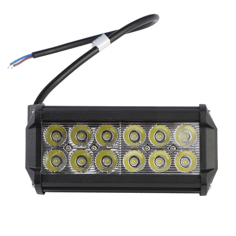 GERUITE 7 inch 36W LED Work Light Lamp for Motorcycle Tractor Boat Off Road 4WD 4x4 Truck SUV ATV Car Spot 6000K 12v 24v