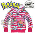 New 2016 Fashion Boys Girls Unisex 3D Hoodies Sweatshirt Floral Galaxy Hoodies Kids Pokemon Pikachu Hip Hop Coat Tops Jackets
