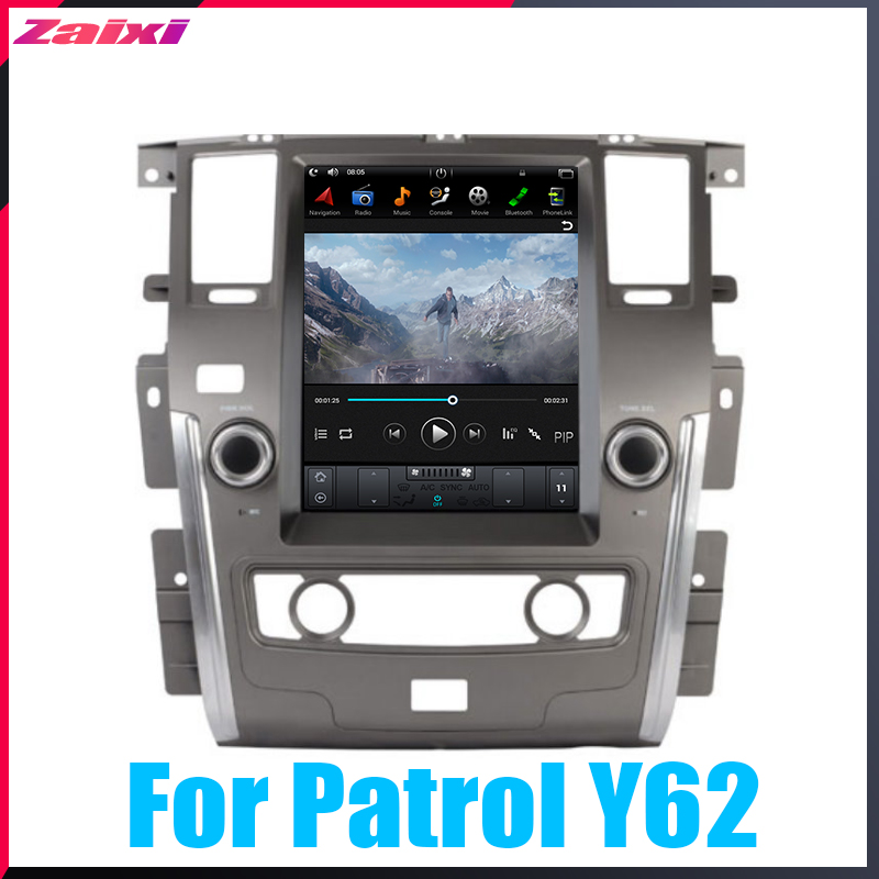 ZaiXi 12 1 quot Vertical screen android car gps multimedia video radio player in dash for Nissan Patrol Y62 2010 2019 car navigaton in Car Multimedia Player from Automobiles amp Motorcycles
