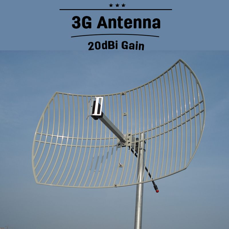 20dBi Super High Gain 2G 3G WCDMA UMTS 2100mhz Outdoor Antenna Mobile GSM  External Cell Phone Signal Antenna N Connector#40