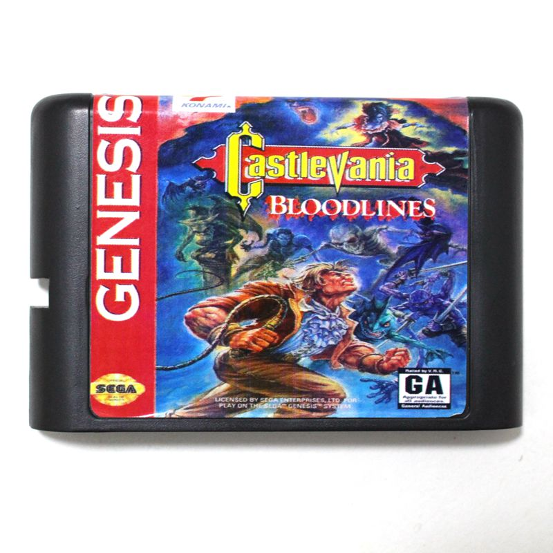 Top quality 16 bit Sega MD game Cartridge for Megadrive Genesis system --- Castlevania Bloodlines image