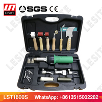 Hot air plastic welding gun kits LESITE LST1600 PP/LDPE/PVC heat gun pistol hot air blower HDPE geomembrane welder for TPO roof