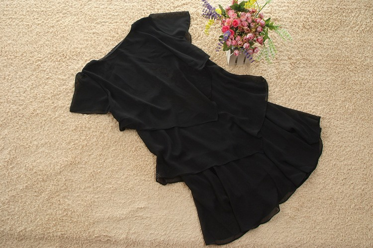 Vestido De Festa Summer Dresses 5XL Plus Size Women Clothing ropa mujer 18 Chiffon Dress Party Short Sleeve Casual Blue Black 24