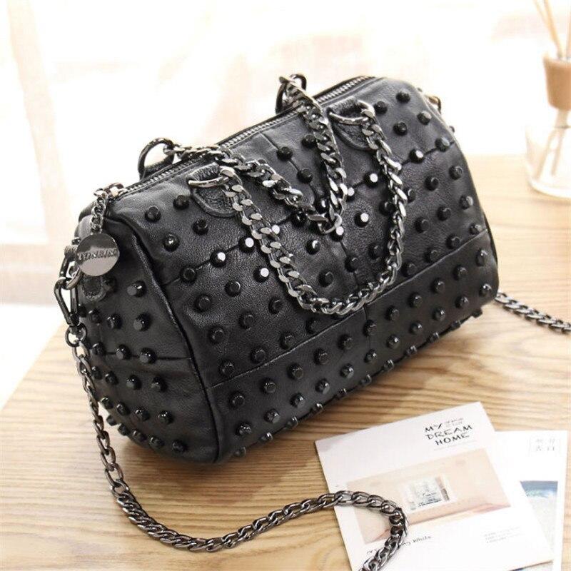 4723d788d Mini Bolso De Oblicuo Black Primavera Bolsa Remache Personalidad Moda  Hombro Cadena 4rqC4UOw