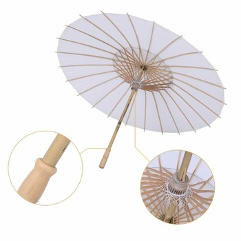 New Style Bamboo White Paper Umbrella Tissue Paper Paraso Chinese Traditional Ancient Craft Umbrella chinese paper card cmyk color card traditional colors rgb guide manual newbie chinese traditional distinguish colors names