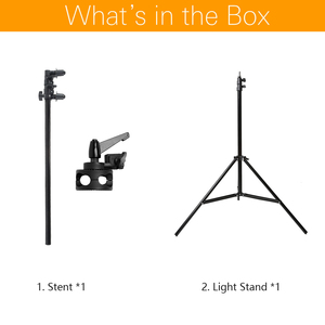 """Image 2 - Studio Photo Holder Bracket Swivel Head Reflector Disc Arm Support 26"""" 67"""" with 190cm Light Stand"""