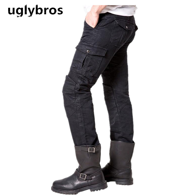 Black Casual Uglybros Motorpool Ubs06 Jeans Motorcycle Protective Pants Mens Moto Pants Outdoor Tactical Pants Racing Pants