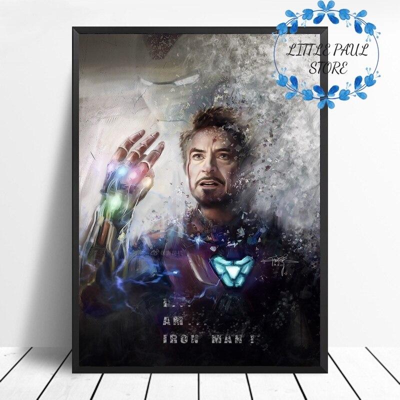 Iron Man Avengers Endgame Art Canvas Poster Movie Poster