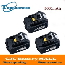 3X High Capacity 5000mAh 18V Li-ion Replacement Battery for Makita BL1850 BL1830 BL1845 BL1840 LXT With Power Light