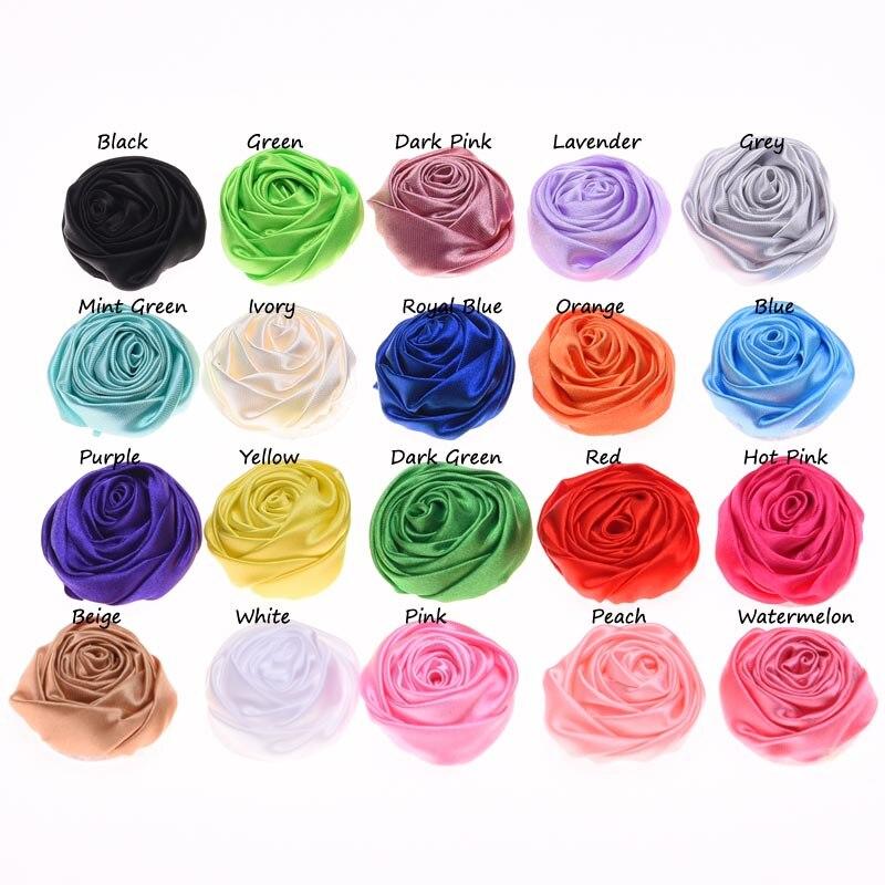 20PCS Rose Bud Flower 4cm Rosette Flowers DIY Flower Bouquet Flowers  Fashion Hair Accessories No Clips