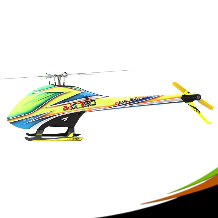 ALZRC - Devil 380 FAST TBR KIT - Silver RC Helicopter alzrc devil 380 fast tbr super rc helicopter kit aircraft rc electric helicopter 380tbr frame kit power driven helicopter drone