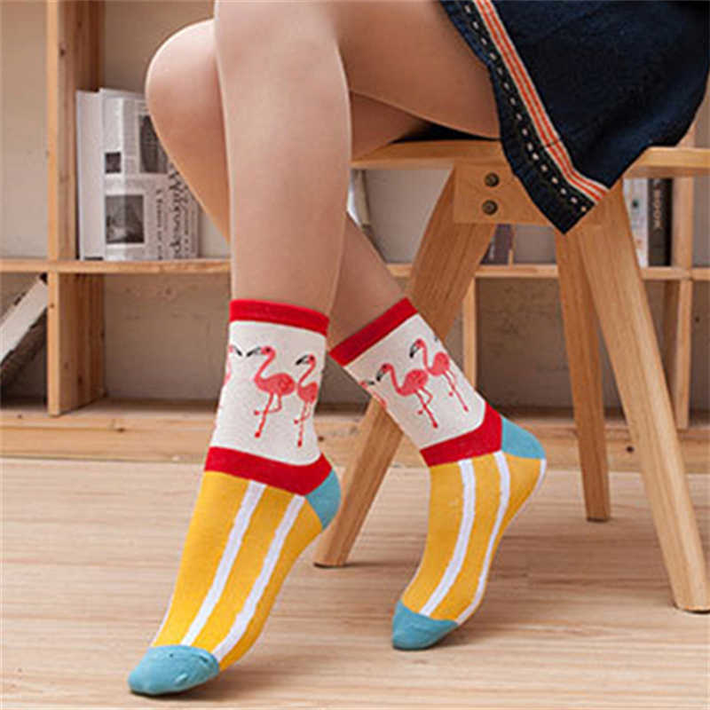 2018 ใหม่น่ารักการ์ตูนถุงเท้าผู้หญิงผ้าฝ้ายคุณภาพสูง Sox แฟชั่นญี่ปุ่นสไตล์ถุงเท้าฤดูใบไม้ร่วงถุงเท้าอบอุ่นฤดูหนาวสำหรับสุภาพสตรีหญิง