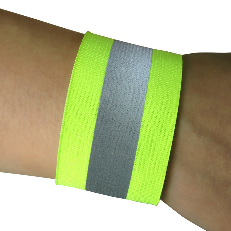 4 Pcs Night Running Reflective Band Outdoor Sports Reflective Armband Riding Multi-function High Visibility Wrist Strap Warning