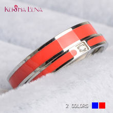 NEW STYLE 2018 100% Titanium steel firefighter red line rings Thin blue line  Ring Top Quality drop shipping promise  never fade! 485f573fe40f