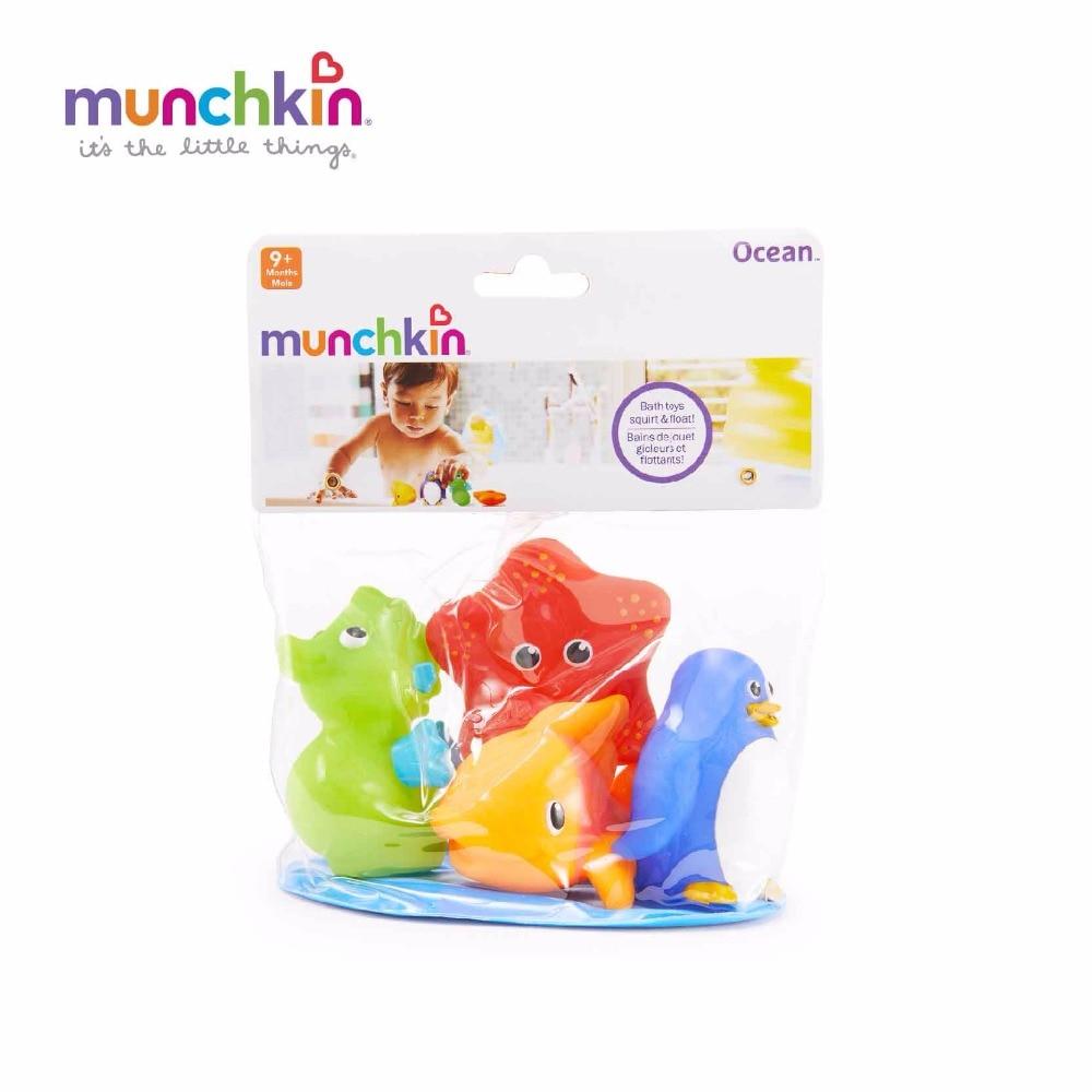 Munchkin Ocean Squirts Bath Toys 4pk Wash Bath Play lovely ocean ...