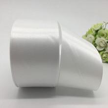 5 jardas/lote 50 milímetros White Satin Ribbon Bow Craft Decor Festa de Natal Do Casamento Decoração do Ofício DIY Costura Suprimentos