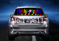 90 x 25CM Car music rhythm LED decoration light/car Voice control lamp/ music lamp/Sound Music Activated Equalizer Stickers