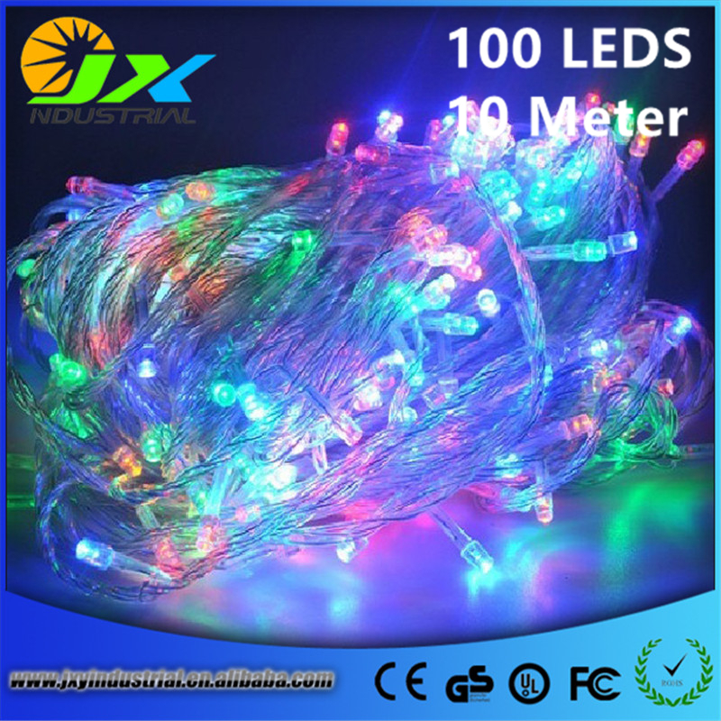 10M 100LED LED String Lights Outdoor Christmas Fairy Lights Warm White Silver Wire LED Starry Lights DC 2V Wedding Decoration
